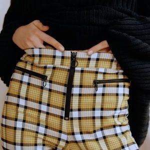 Urban Outfitters Susie Plaid High Rise Ankle Pant
